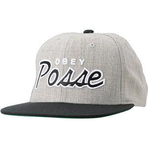 Obey Clothing Obey Posse Heather Grey Snapback Hat
